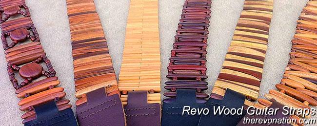 revo exotic hardwood guitar straps